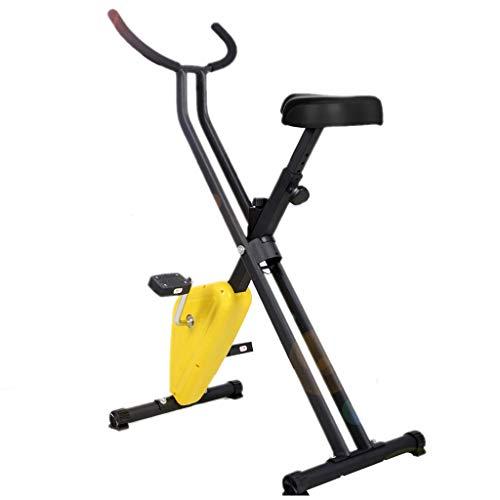 Bicicleta de ejercicios Bicicleta Giratoria Hogar Equipos De Gimnasia para Pedalear En Interiores Bicicleta Estática Bicicleta De Spinning para Hombres Y Mujeres (Color : Yellow)