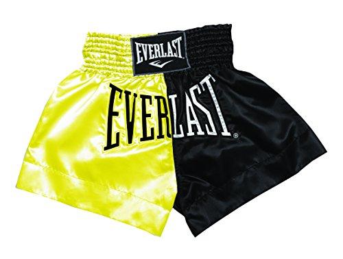 Everlast House EM7, Pantalón de thai boxing, Hombre, Dorado/Negro, L