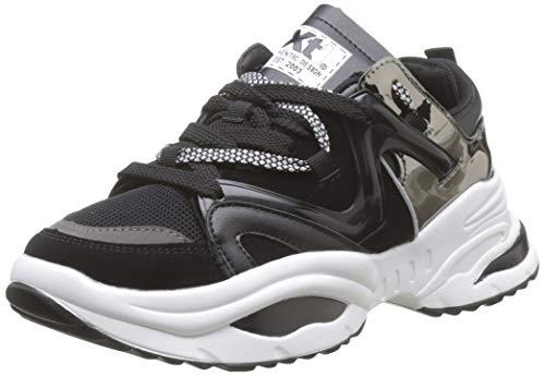 XTI 49523, Zapatillas Mujer, Negro Negro Negro, 38