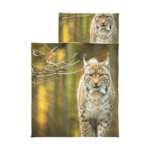 Alfombrilla plegable para siesta Eurasian Lynx Alfombrilla para siesta para niña, microfibra suave, liviana, para siesta para niños,...