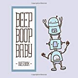 Beep Boop Baby Guest book: Robot theme baby shower guest book with gift log