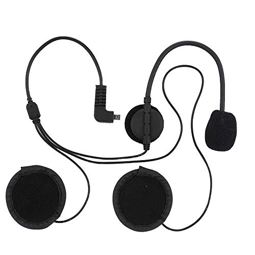Tangxi Casco Bluetooth Intercom Headset, Bluetooth Motorcycle Wireless Intercom Headset Headset con Radio FM + función de Llamada telefónica