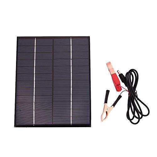 tellaLuna 5.5 W 12 V panel solar cargador de batería Junta impermeable policristalina placa de carga al aire libre de emergencia para barco coche motocicleta al aire libre