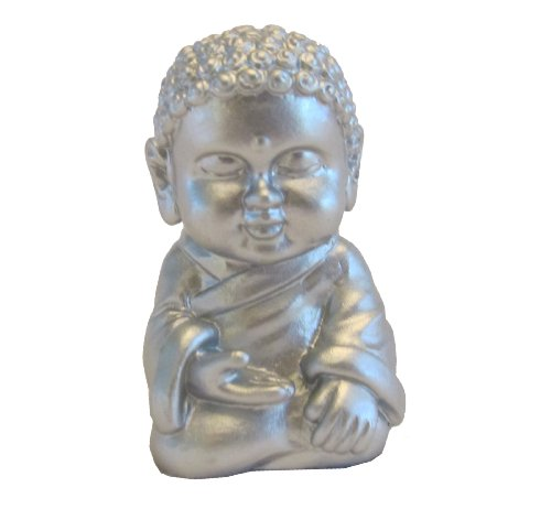 Whinycat Pocket Buddha Silver Serenity Buddhism Mini Figure Figurine Toy