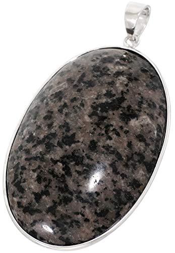 新宿銀の蔵 ユーパーライト シルバー 925 ペンダントトップ オーバル型 天然石 パワーストーン ヘッド シンプル 蛍光性 方ソーダ石