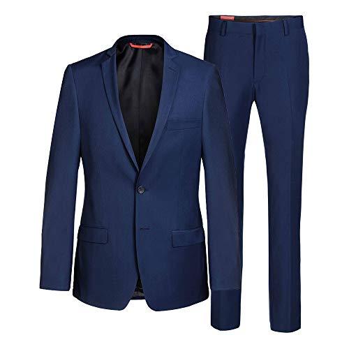 Thomas Goodwin  Tuta da uomo (Slim Fit) 2 pezzi Tom Navy, nero, blu reale (vestibilità perfetta + qualità testata + taglie EU + senza fili sciolti, cuciture o fori) blu royal 46