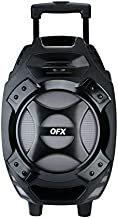 """QFX Portable Bluetooth Speaker - PBX-61081BT SI Silver - Outdoor Party Aux Wireless with Built-in 8"""" Subwoofer"""