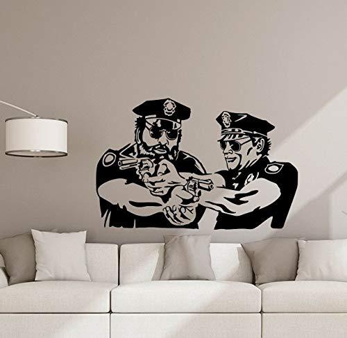 Polizei Wandtattoos Polizist Poster Offiziere Cops Geschenk Zeichen Vinyl Aufkleber Kinderzimmer Dekor Schlafzimmer Spielzimmer Kinder Polizei Wandkunst 882