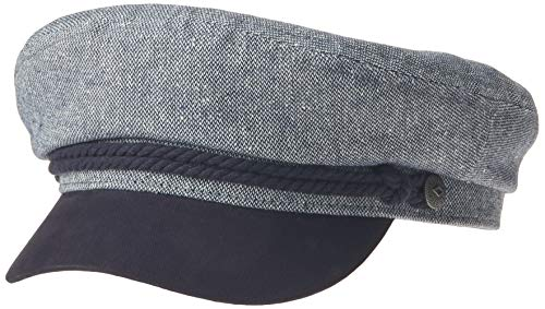BRIXTON Unisex-Erwachsene Fiddler Cap Kappe, Marineblau/Off-White, Large