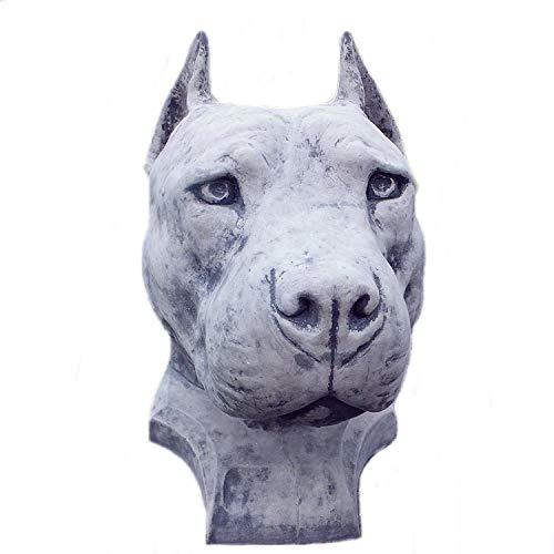 steinfiguren-neumann STEINFIGUR Gargoyle Pitbull Hund Dogge STEINGUSS Tierfigur Gartenfigur