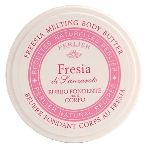 Perlier Burro Fondente Corpo Fresia, Bianco - 2 Pacchi da 200 Ml
