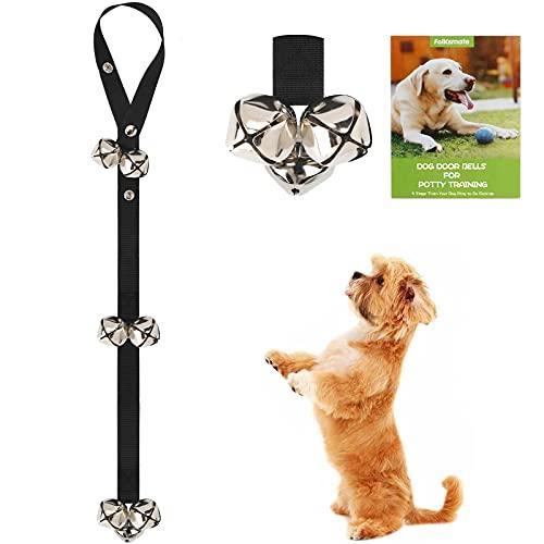 FOLKSMATE Dog Doorbells for Potty Training 1 Pack Potty Bells with 7 Extra Loud Bells Adjustable for Dog Training and Housebreaking - Black