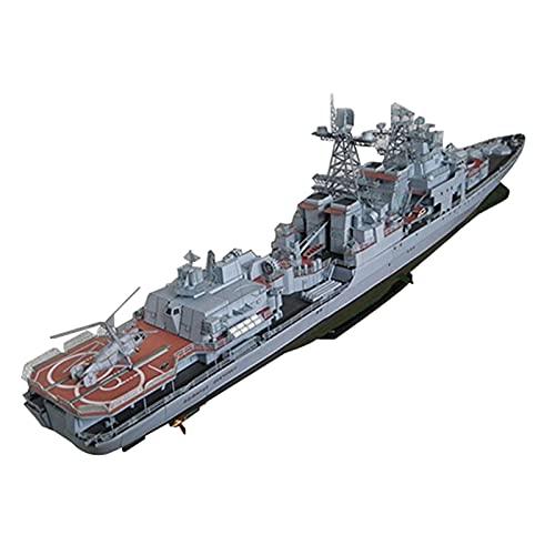 perfeclan 3D 1/200 Escala Almirante Levchenko Armada Destructor de misiles Modelo de Barco Juego de Rompecabezas para niños Adultos Adornos de decoración del - con Piezas fijas