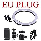WOVYNC 30cm / 12'Fotografia esterna LED Selfie Ring Light Lamp 2700-5500K Dimmerabile con supporto per telefono per trucco Video Live Studio Light EU Plug