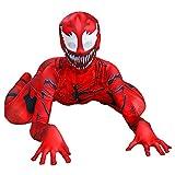 Carnage Venom Jumpsuit Niños Spider Man Body Niños Cosplay Disfraz De Halloween Ropa Clásica Traje De Carnaval Movie Props Medias Onesies,Red-Kids/XL/135~145cm