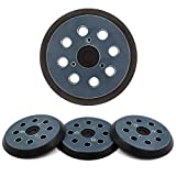 AxPower 4 Packs 5 inch 8 Hole Replacement Sander Pads 5' Hook and Loop Sanding Backing Plates for Makita 743081-8 743051-7, DeWalt 151281-08 DW4388, Porter Cable, Hitachi 324-209