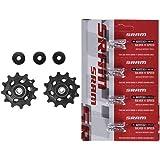 SRAM - Ruedecillas Cambio X.01/Dh MTB + 00.2518.003.000 Eslabon De Cadena Power Lock 11V Silver (Kit 4 Unidades), Unisex Adulto, Plateado