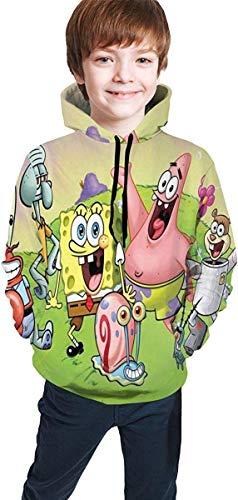 Jugend Kapuzenpullover Jungen Mädchen Spongebob Squarepants Teen Long Sleeve Hooded Sweatshirt for Boys and Girls