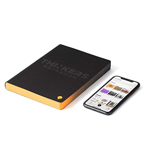 """THINKERS Smart Notebook - 5mm dot grid, 256 numbered pages, Executive (6.5"""" x 8.67""""), 120 gsm paper, black cover"""