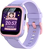 GeGuly Kids Smart Watch,Multifunction Rechargeable Touch Screen Toddler Watch with HD Dual Camera,Gaming and Music Player Educational Toys,Christmas Birthday Gifts for Girls Boys Ages 5-12(Purple)