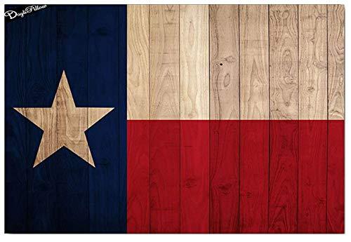 Texas Flagge Holz Brett Modern Outdoor Willkommen Matten für Haustüreingangstür Fußmatte Fußabtreter Schuhe Schaber Indoor Matten