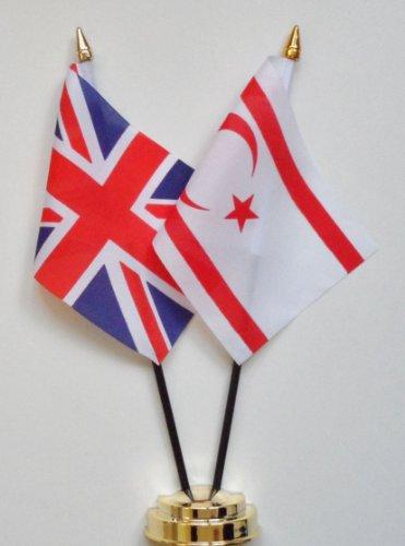 Chypre du Nord et d'amitié Royaume-Uni Drapeau de table Écran 25 cm (25,4 cm)