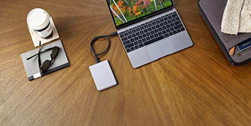LaCie Mobile Drive 2TB External Hard Drive HDD – Space Gray USB-C USB 3.0, for Mac and PC Computer Desktop Workstation Laptop (STHG2000402)