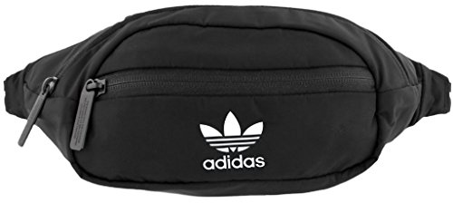 adidas Originals Unisex National Waist Pack   Fanny Pack   Travel Bag Black  White, One Size