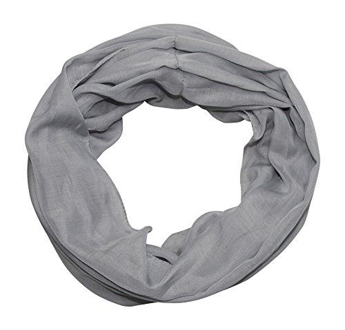 ACC Damen Seide Loop Schal leicht unifarben (grau)