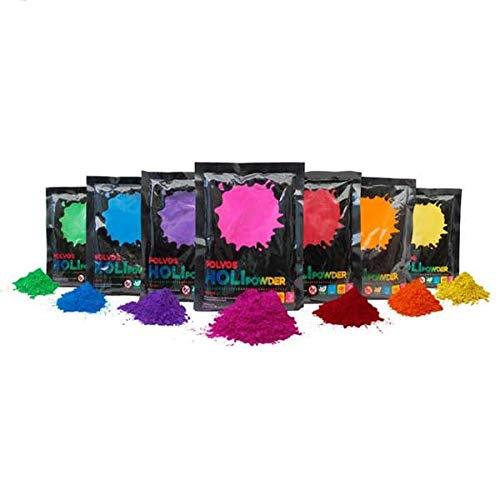 Polvos Holi   14 Bolsas de 100 Gramos   Polvos Holi 100% Naturales y biodegradables   Polvos Holi Gulal   Polvos de Colores de máxima Calidad al Mejor Precio