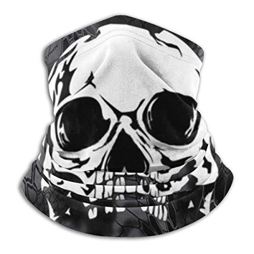 WCUTE Abstrait Noir et Blanc crâne Visage Bandana Cagoule pour Hommes Femmes, Protection UV Demi-Masque écharpe Cyclisme Cou guêtre