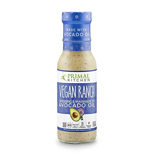 Primal Kitchen - Avocado Oil-Based Dressing and Marinade, Vegan Ranch, Pack of 1, Whole30 and Paleo Approved