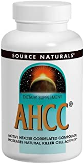 SOURCE NATURALS Ahcc Active Hexose Correlated Compound 500 Mg Capsule, 60 Count
