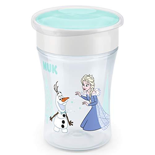 NUK Disney Frozen Magic Cup Trinklernbecher, 360° Trinkrand, 8+ Monate, BPA-frei, 230ml, Auslaufsicher, abdichtende Silikonscheibe, Türkis