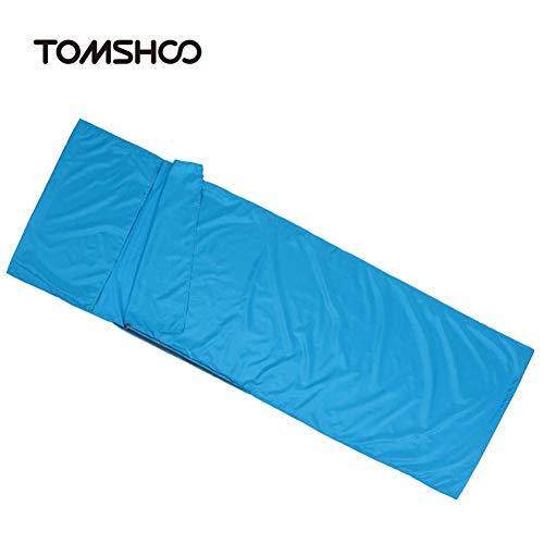 Wo nice Schlaf bag70 * 210CM Schlafsack im Freien Reise Camping Einzel-Schlafsack-Liner mit Pillowcase Polyester-Rohseide-Schlafsack (Color : Blue)