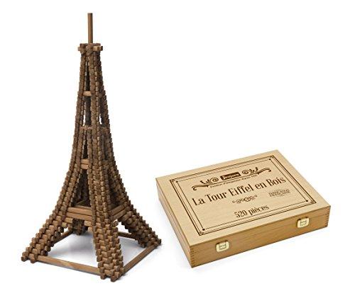 Jeujura J8079 520 stuk Eiffeltoren in houten doos, meerkleurig