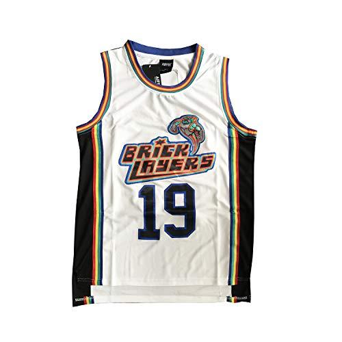 AIFFEE #19 Bricklayers Basketball Jersey White Size S-XXL