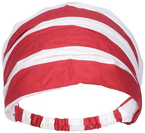 Killer Kirsche Damen Haarband Streifen Sailor Headband Rot/Weiß gestreift Breite max. 24cm