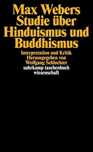 Max Webers Studie über Hinduismus und Buddhismus: Interpretation und Kritik. Herausgegeben von Wolfgang Schluchter (suhrkamp taschenbuch wissenschaft)