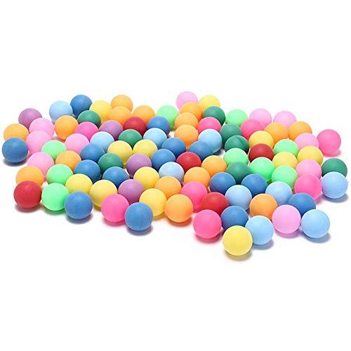 Scucs Pong Bälle Tischtennisbälle Spiel - Sportiv 50 Stück 40 mm Bunt Ping Pong Tischtennis Bälle für Spiele, Outdoor-Sport 2,4 g zufällige Farben