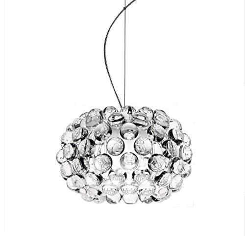Pendelleuchte Lampen Pendelleuchte Deckenleuchte Hängelampe Deckenleuchte 35 Cm Lampe Für Wohnzimmer Esszimmer Acryl Perlen Glas Designer Lampen (Größe: 35cm im Durchmesser)