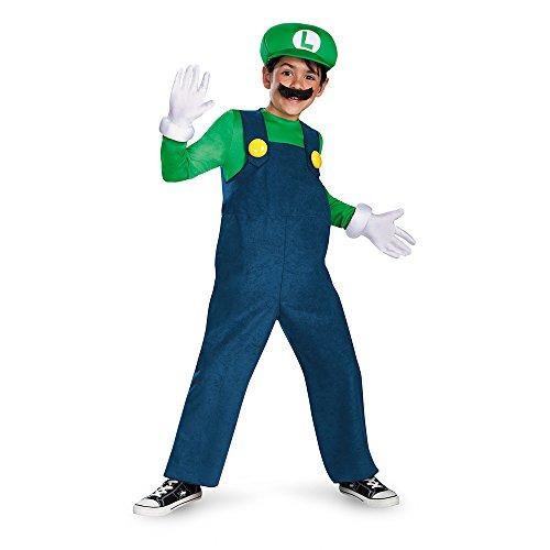 Boy's Nintendo's Super Mario Brothers Luigi Deluxe Costume, 7-8
