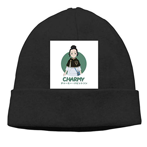 Lawenp Hombres Mujeres Skull Cap Black Clover Charmy Pappitson Beanie Sombreros para exteriores