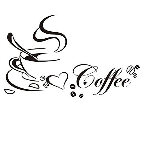 Lumanuby Wandtattoos Küche Kaffee Wandsticker Wandaufkleber Abnehmbare für Esszimmer Café Und Restaurant