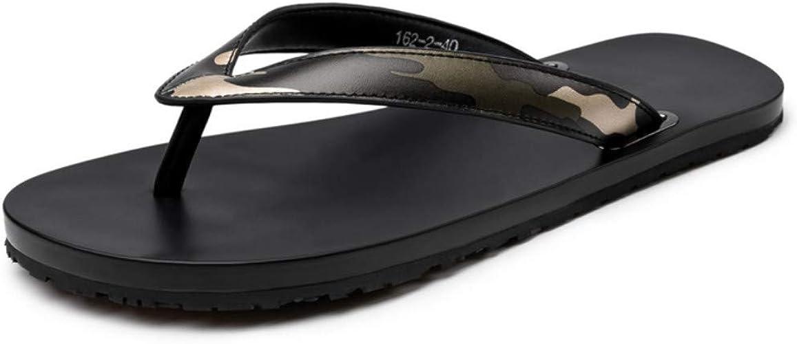 Tongs Homme Chaussures De Plages Chaussures Chaussons D'été pour Hommes Sandales pour Hommes Tongs Chaussures De Plage en Cuir pour Hommes Pantoufles D'Extérieur