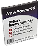 Battery Kit for Samsung Galaxy Tab S2 9.7 SM-T813, SM-T810, SM-T815, SM-T817 with Tools, Video Instructions, Extended Life Battery from NewPower99