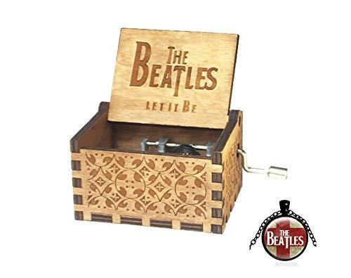 Cuzit - Caja de música con diseño de los Beatles Tallado