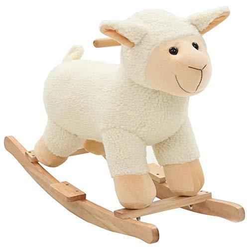 Caballo balancín de madera para niños de animales, silla balancín de jardín y exterior para niños de 1 a 3 años