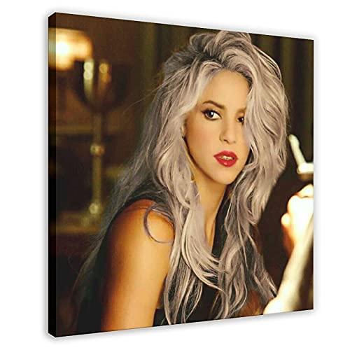 Shakira Isabel Mebarak Ripoll schöne sexy berühmte Sänger-Figur Kunstdruck Poster 5 Leinwand Poster Schlafzimmer Dekor Sport Landschaft Büro Zimmer Dekor Geschenk Rahmen Stil 30 x 60 cm