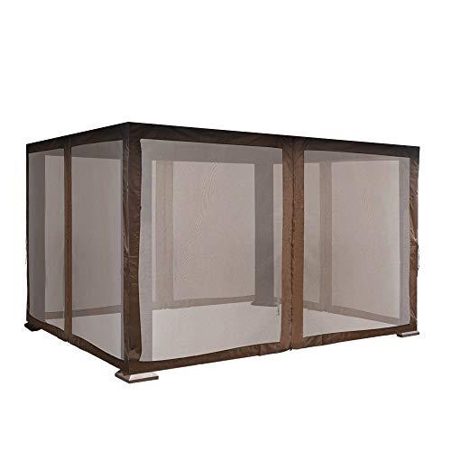 EliteShade Gazebo Mosquito Netting Screen Walls for 10x13 Titan Gazebo(Mosquito Net Only,Cocoa)